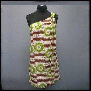 Trina Turk cotton one-shoulder dress, 4